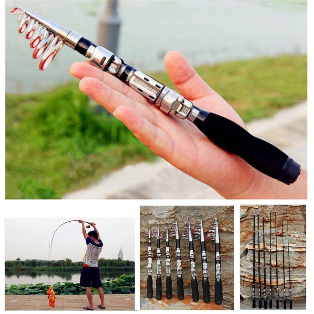 Mounchain Pesca rod Super Hard Mini Fishing Rod 1m-2.3m FRP ice fishing Rod rivers and lakes fishing Equipment Practical Tool