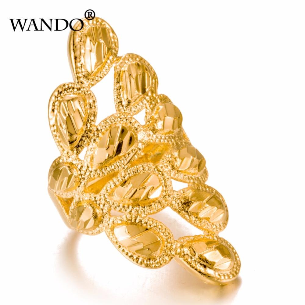 Женские Классические кольца Wando, кольца золотого цвета в стиле Рамадана, в арабском, в эфиопском стиле, для подарка на день рождения