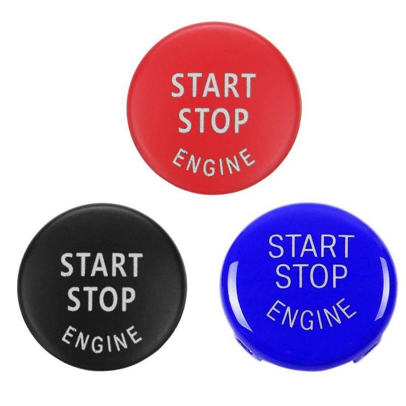 Motor de coche botón reemplazar cubierta interruptor de parada accesorios, llave decoración para BMW X5 X1 E70 X6 E71 Z4 E89 3 5 serie E90 E91 E60