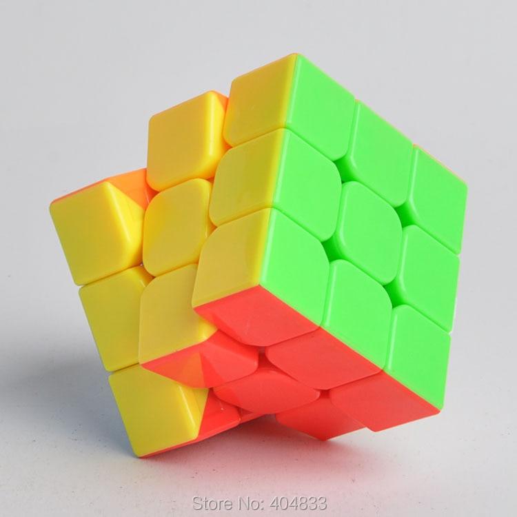 Moyu Aolong 3x3 V2 5,45 cm, juguete educativo, Cubo mágico, dulce brillante, blanco negro, sin adherente