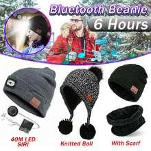 Winter bluetooth Kopfhörer Musik Hut Drahtlose Kopfhörer Kappe Headset Mit Mic Sport Hut für Sony Stereo Musik Caps