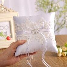 Parti dekor düğün süslemeleri şenlikli malzemeleri evlilik sevgililer günü Hollow dantel hediye yüzük yastık minder İğneli halka