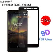 2 Pcs/Lot For Nokia 6 (2018) / 6.1 TA-1016 5.5