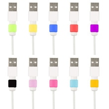 Nouveau câble protecteur ligne de données couleurs cordon protecteur étui de protection longue taille câble enrouleur couverture pour iPhone USB câble de charge