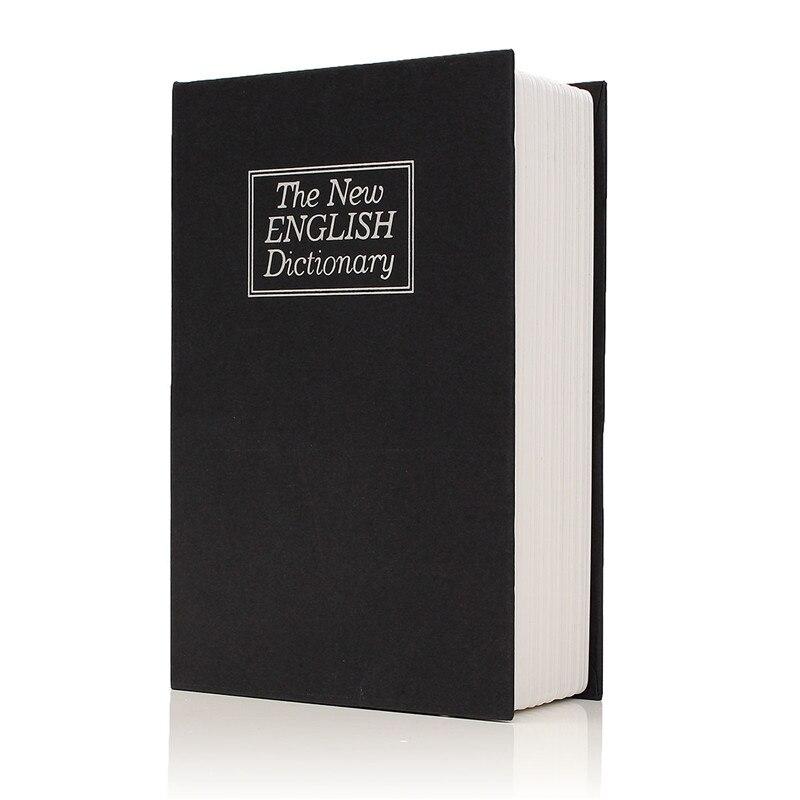 Metal + Placa de papel diccionario libro seguridad secreta cerradura de llave dinero efectivo casillero de joyería calidad duradera