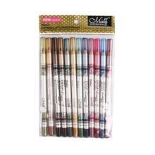 12 teile/satz 2 in 1 Eyeliner 12 Farben Lip Bleistift langlebige Wasserdicht Make-Up Kosmetik Set Eye Liner 2019 HEIßER