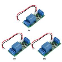 Commutateur automatique à verrouillage automatique 5/12 V/ 24V   Module de relais déclencheur de niveau élevé, un bouton de démarrage arrêt, Module de disjoncteur automatique à verrouillage automatique