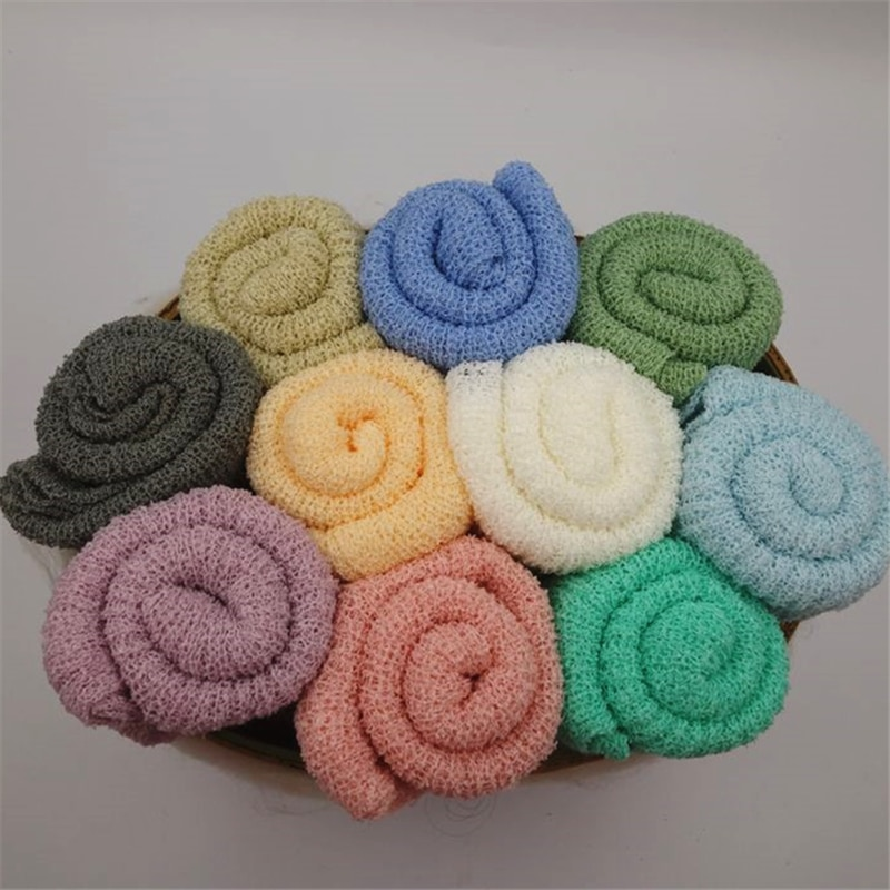 10pcs/lot Stretched Knit Wraps Hammock Swaddlings Padding Nubble Wraps Newborn Baby Photography Props Photo Studio Props
