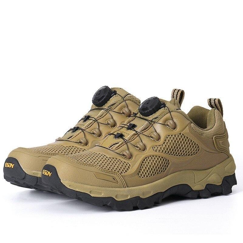 Calzado deportivo de malla transpirable ultraligero para hombre, para exterior, Camping, senderismo, caza, escalada, botas tácticas militares de entrenamiento