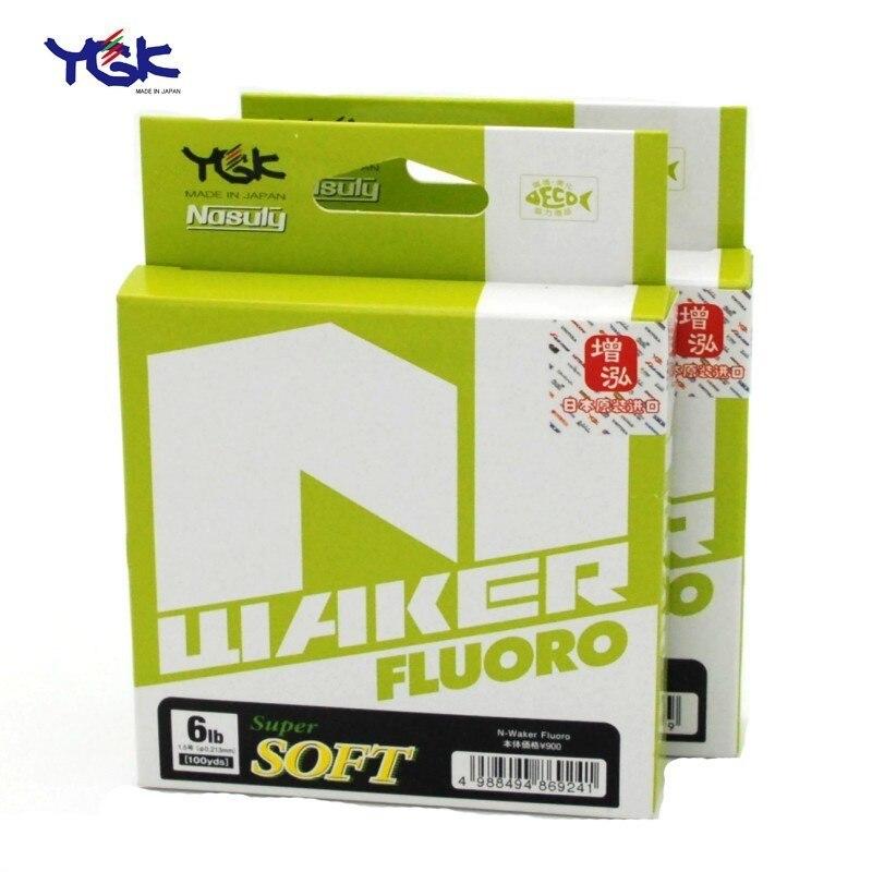 Японская леска YGK, мягкая N-waker, высокопрочная углеродная леска 91 м, 4-20lb #1,0 #1,5 #2,0 #2,5 #3,0 #3,5 фторуглеродная рыболовная леска