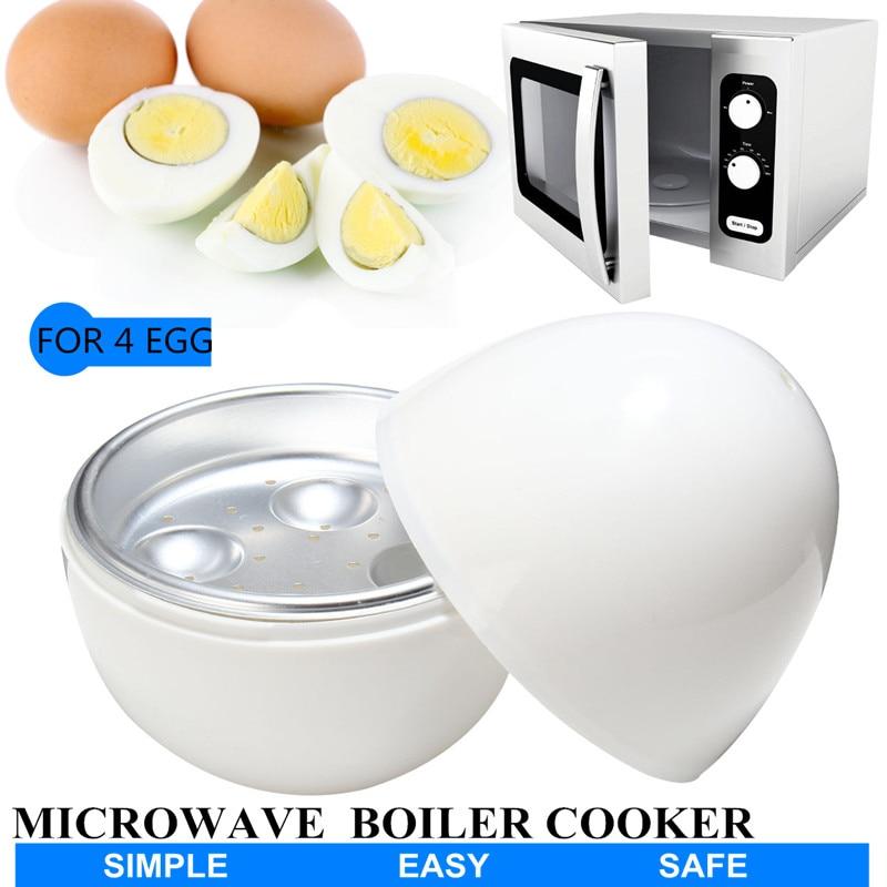 4 tazas de hervidor de huevos para microondas 4 huevos para el desayuno utensilios de cocina suministros de vaporizador de huevos
