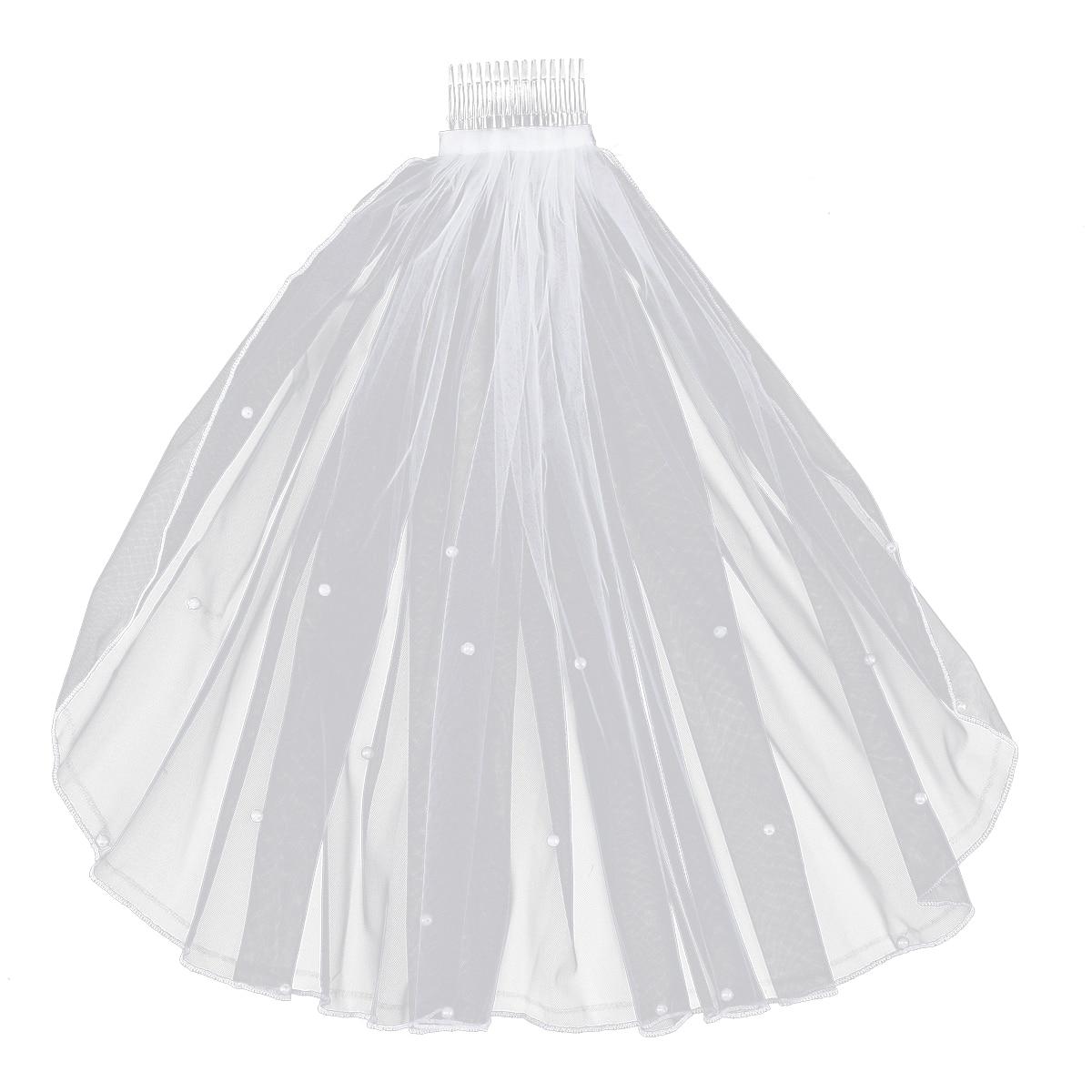 1 шт. свадебная вуаль для собора белая Элегантная короткая перламутровая