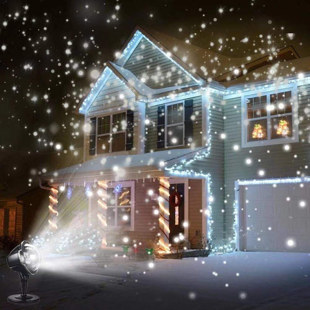 Luces navideñas SOLLEDLed, proyector con efecto de Nevada IP65, luces de otoño para exteriores, lámpara de jardín, lugar de nieve para decoración de iluminación led