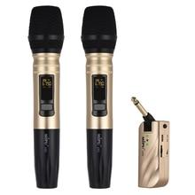 Offres spéciales Microphone Uhf sans fil avec récepteur Usb Portable pour lenregistrement de lamplificateur de parole Ktv Dj