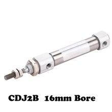 Envío Gratis mini cilindro para pluma cilindro de aire CDJ2B 16mm diámetro interior 5/10/15/20/25/30/35/40/45/50/60/75/100mm carrera