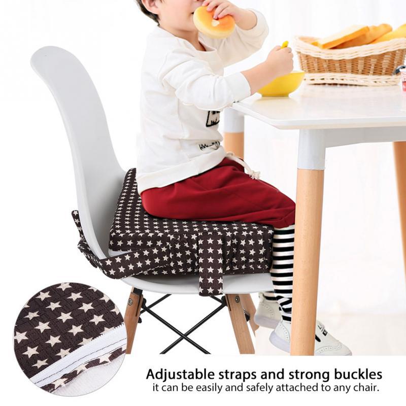 Cadeira de jantar do bebê almofada de reforço removível crianças alta cadeira de assento almofada de reforço cadeira de criança assento de cadeira de pram