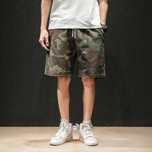 Verano nuevos pantalones cortos de Camo a la moda para hombre pantalones cortos de viento militar de moda para hombre ropa de calle moda salvaje Hip Hop pantalones cortos sueltos M-5XL