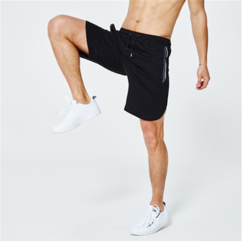 Pantalones verano corredores llanos para hombre bolsillos cremallera pantalones
