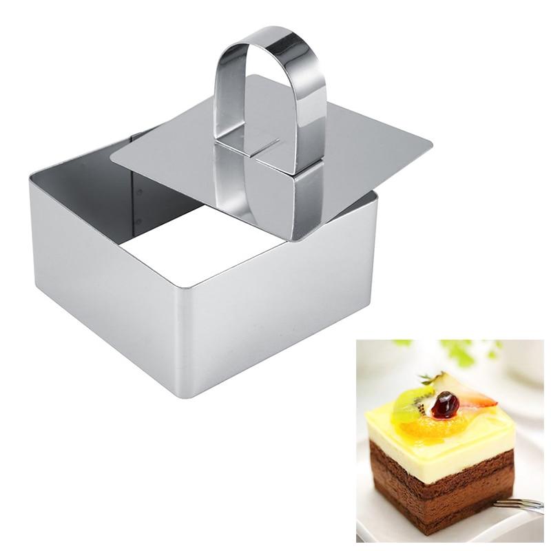 Herramienta para queso, postres, ensalada, herramientas populares para hornear, Mousse Ring, herramientas para hornear, utensilios para hornear, cupcakes, molde de acero inoxidable, pastel, 1 pieza, troquel DIY