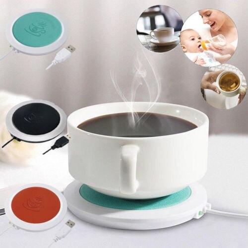 USB Силиконовая тепловая грелка, электрическая теплоизоляционная чашка, теплый нагреватель, коврик для кружки, детские грелки для молока