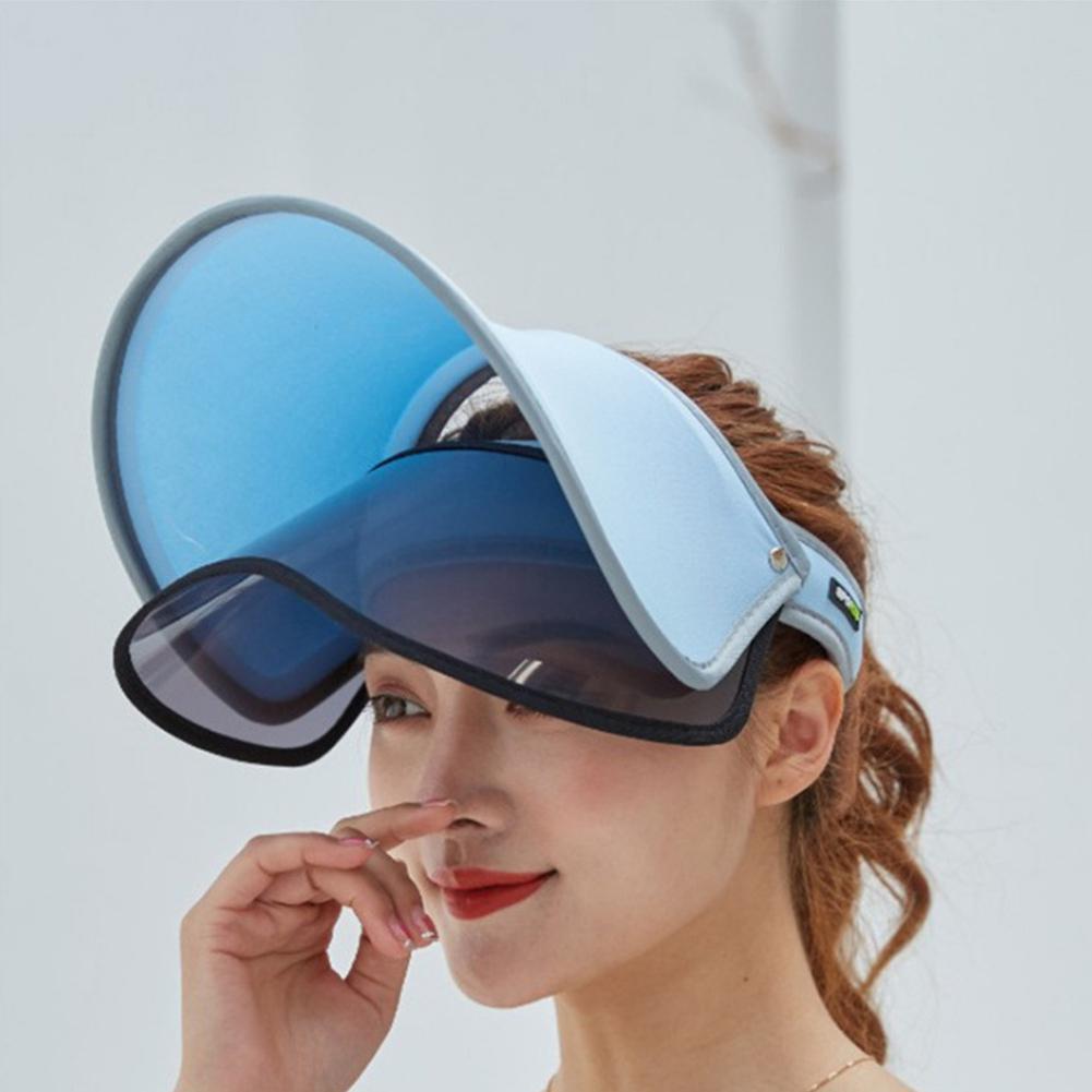 MISSKY femmes hommes unisexe casquette Protection solaire en plein air Double couche chapeau de soleil été femmes Ant- UV chapeau déquitation pour homme femme