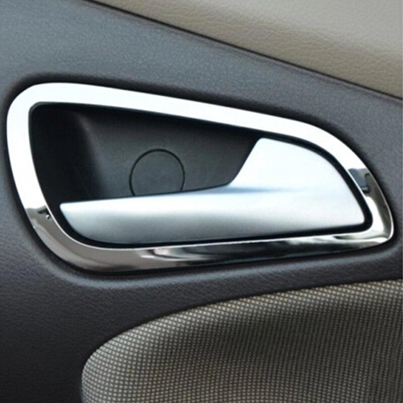 My Good, cubierta de manija de puerta de acero inoxidable para coche, pegatinas embellecedoras para Ford New Focus 3 MK3 2012 2013 2014 2015, accesorios
