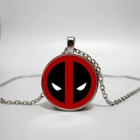 deadpool glass necklace glass time gem glass necklace diy custom photo personality gift necklace