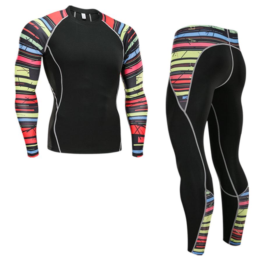 Mens thermal underwear set sports base layer clothing quick-drying ski hiking running tight men S-4XL
