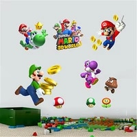 Autocollants muraux Super Mario amovibles en vinyle pour enfants  autocollants dart