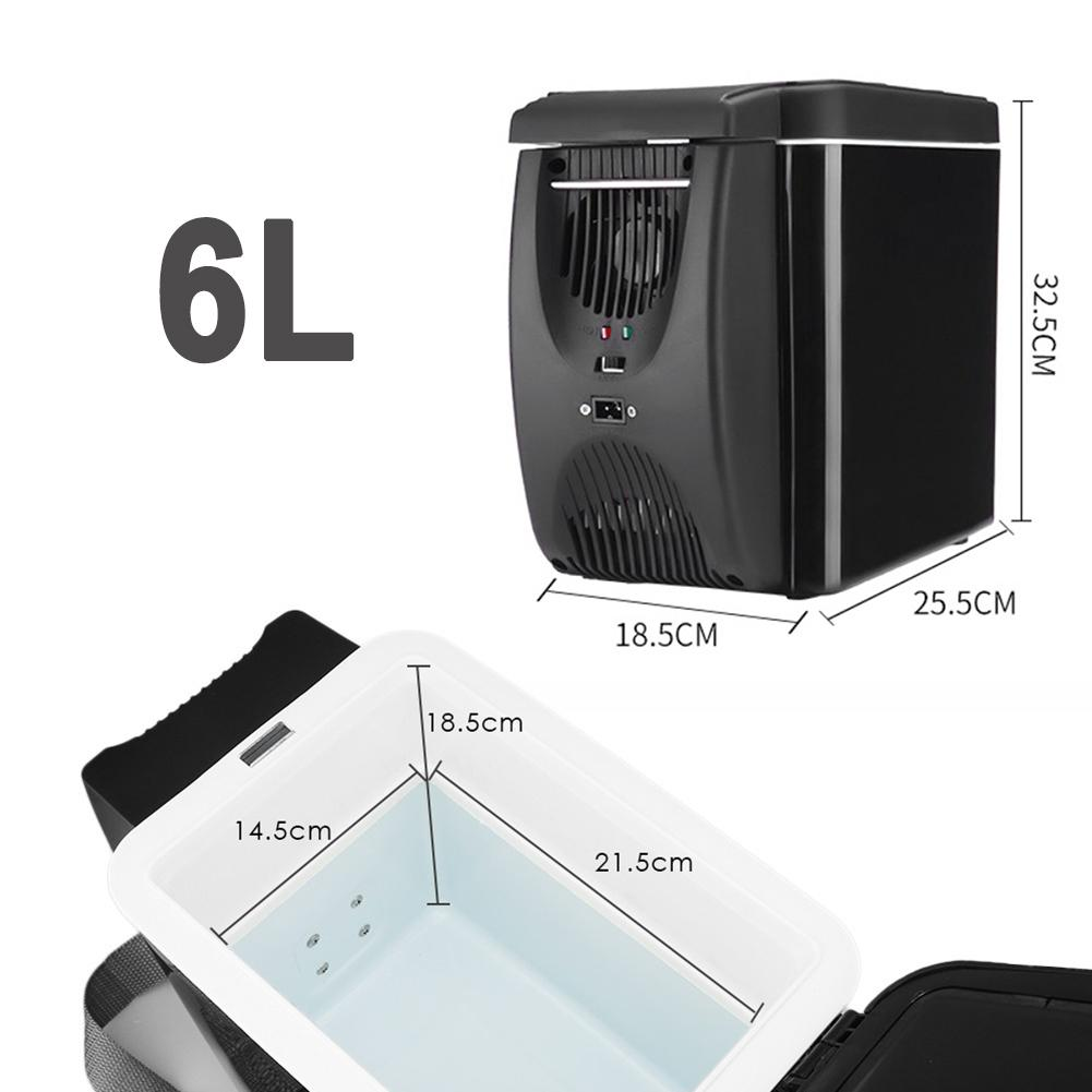 Portable 12V Refrigerator Freezer Heater 6L Mini Car Freezer Cooler Warmer Electric Fridge Icebox Travel Refrigerator