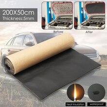 Rouleau en coton à cellules fermées   200cm x 50cm, isolation acoustique de voiture, amortissement et Anti-bruit, accessoires de voiture