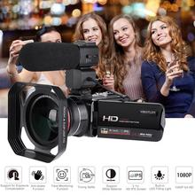 HDV-Z20 3.0 ips 스크린 wifi 16x 디지털 줌 풀 hd 16x 디지털 줌 dv 디지털 카메라 얼굴 감지 광각 렌즈
