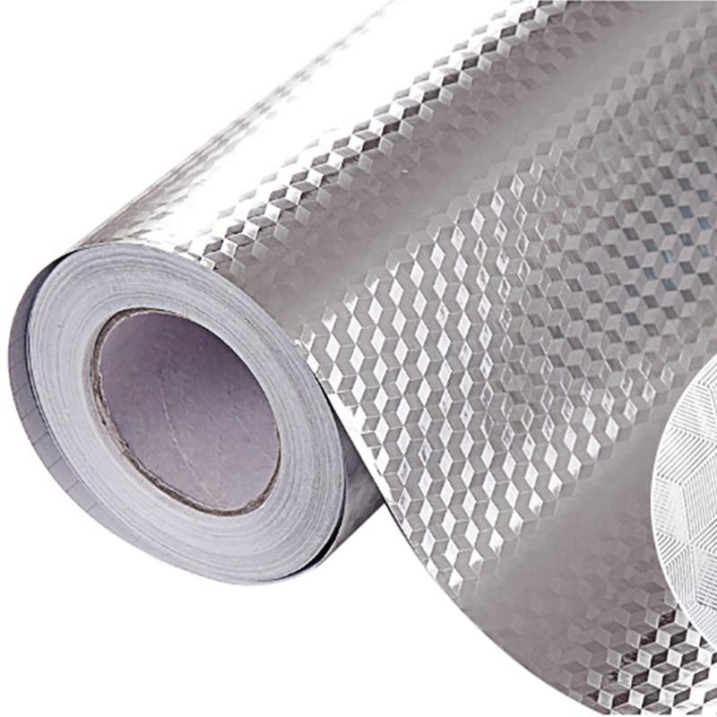 Aluminum Foil Kitchen Stickers Maison Decoration Sticker Self Adhesive Waterproof Wallpaper For Furniture