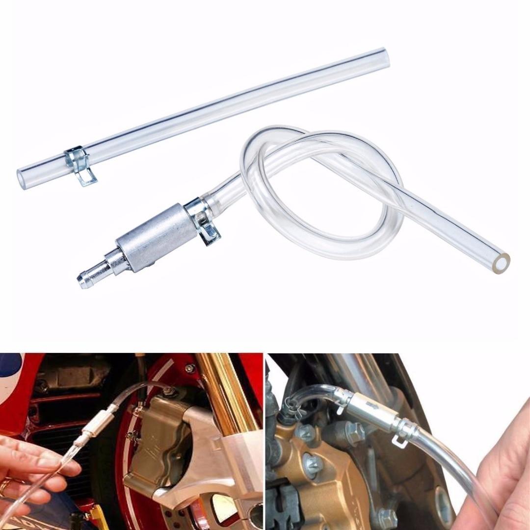 Mayitr 1set Universal Motorcycle Car Auto Clutch Brake Bleeder Hose One Way Valve Tube Bleeding Tool Kit Accessories