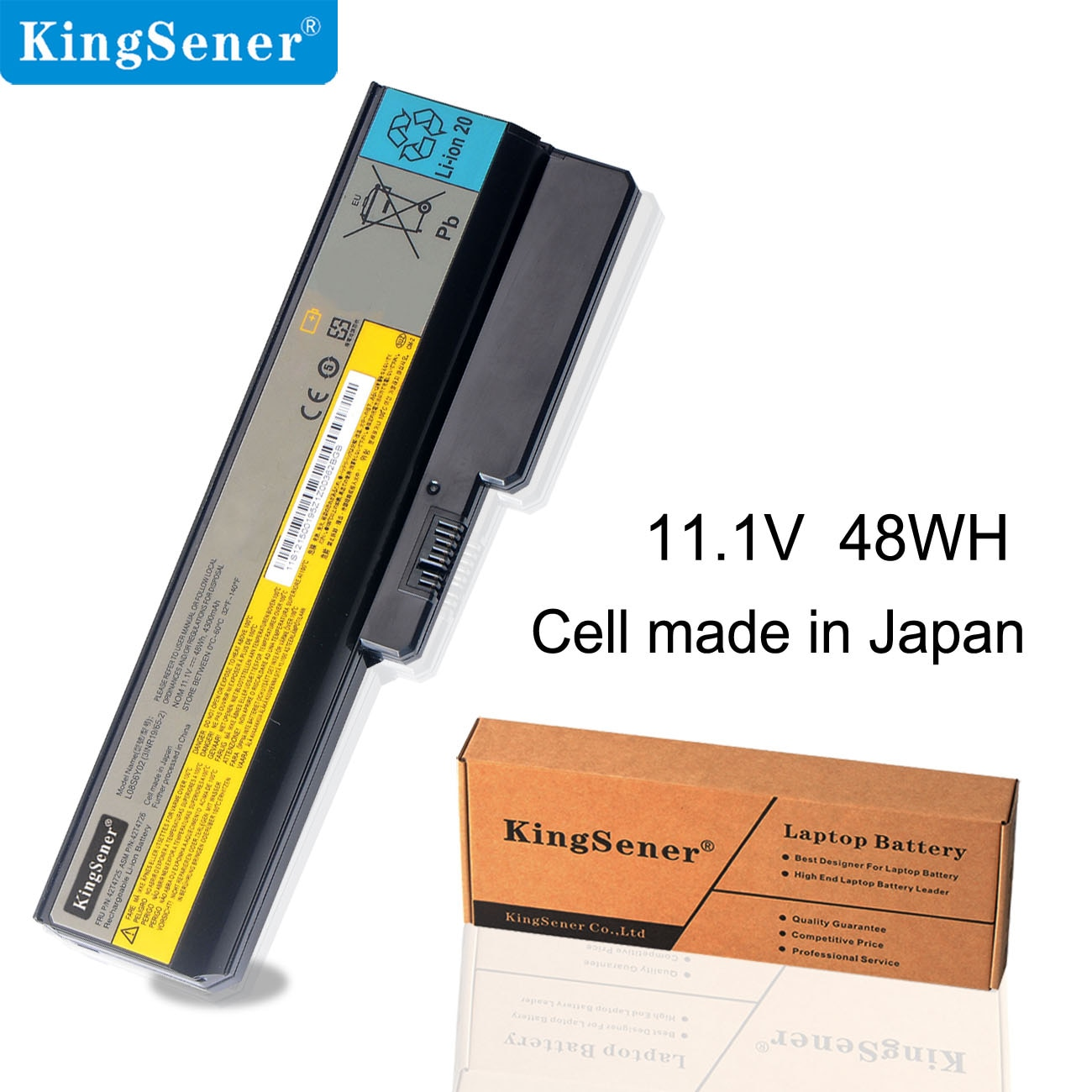 KingSener L08S6Y02 محمول بطارية لأجهزة لينوفو 3000 G430 G450 G530 G550 N500 Z360 B460 B550 V460 V450 G455 G555 G450M L08L6Y02