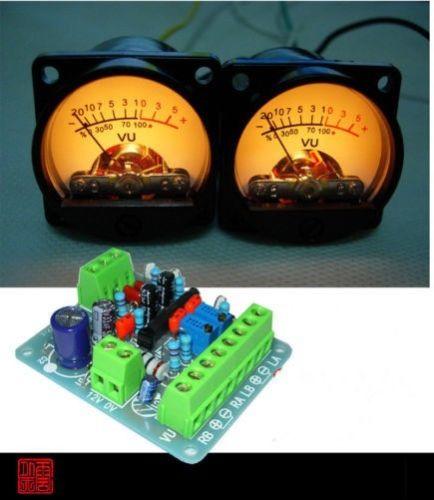 2 uds medidor de VU con Panel encabezado luz trasera cálida grabación y DB Nivel de Audio amplificador de potencia indicador Preamp + Placa de controlador
