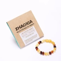 baltic amber teething bracelet for babymulticolor raw unpolished handmade in lithuania lab tested authentic 2 sizes