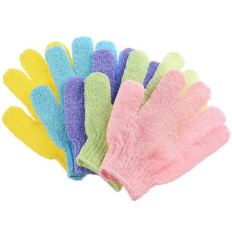 2 Pcs Home Daily Bath Exfoliating Bath Exfoliating Gloves Bathroom Products Bath Shower Gloves Loofah Massage Brush