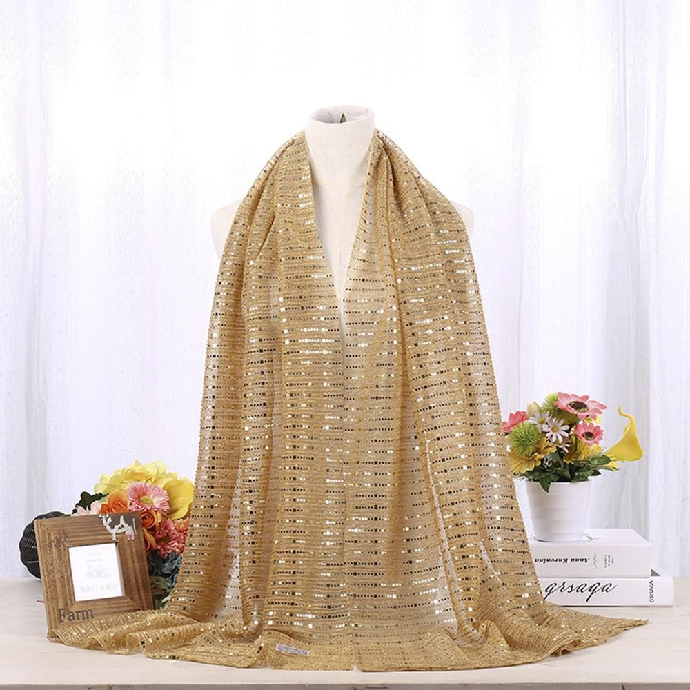 AliExpress - Women Hijabs Islamic Ladies Sequins Chiffon Long Shawl Head Scarf Female Full Cover Wrap Hijab Plain Muslim Fashion Headscarf