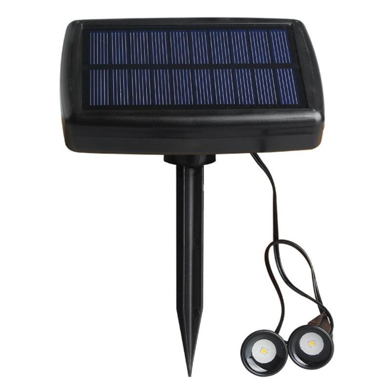 Doble la cabeza de la luz Solar proyector reflector para el jardín al aire libre luz del paisaje para Patio decoración 5V Solar 0,5 W lámpara LED para jardín