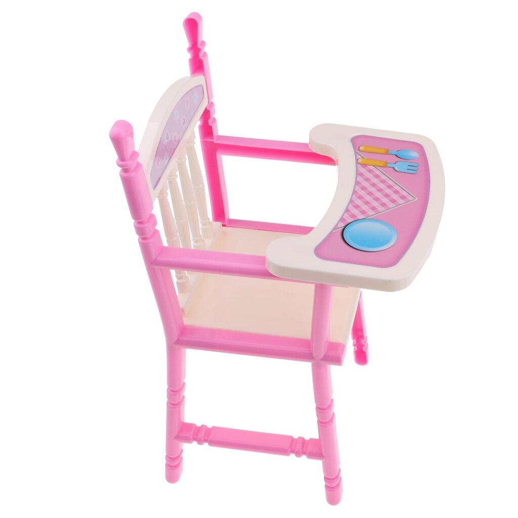 Domek dla lalek maluch krzesło do jadalni laleczka bobas krzesełko dla 9-11 reborn zabawkowe meble