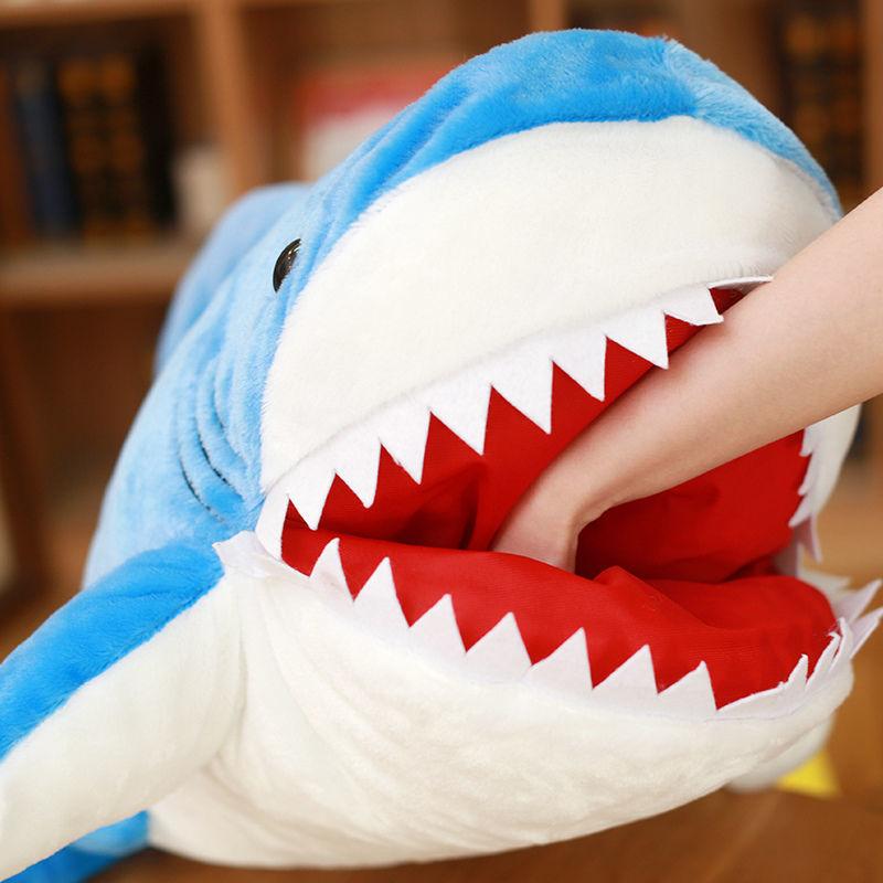 Cute Huge Shark Plush Toy Soft Simulation Stuffed Animal Toys Kids Doll Pillows Cushion ToysBrithday Gifts For Children #TC недорого