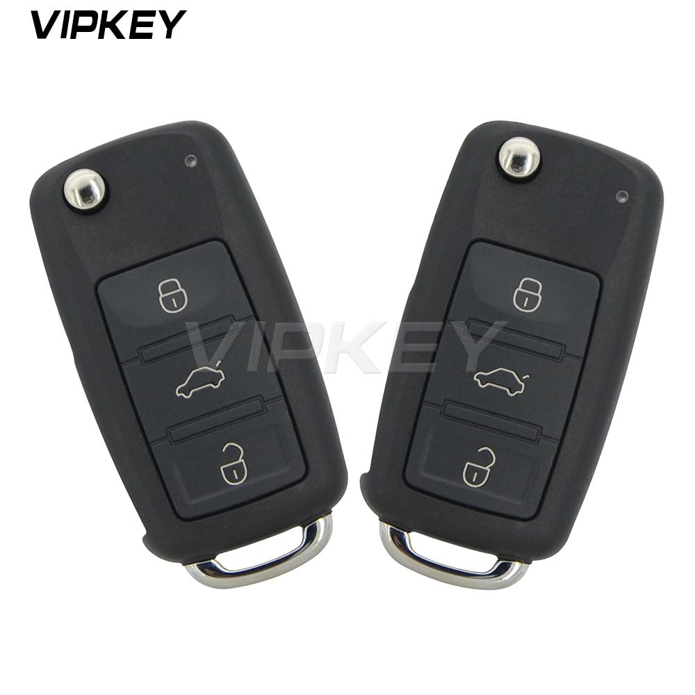 Remotekey 2 uds 300 959 753AA funda de control remoto plegable 3 botón para VW Touareg 2004, 2005, 2006, 2007, 2008, 2009, 2010, 2011