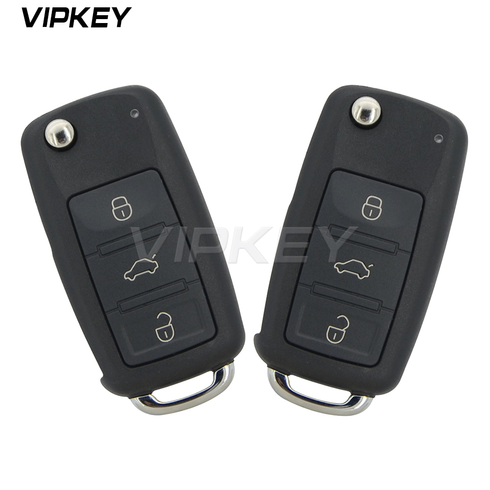 Remotekey 2pcs 300 959 753AA 3 botão virar shell remoto chave para VW Touareg 2004 2005 2006 2007 2008 2009 2010 2011