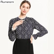 2019 spring autumn Ladies Blusas Women's Long Sleeve Chiffon Voile Crochet Tops Blouses Women Clothing Feminine Blouse plus size