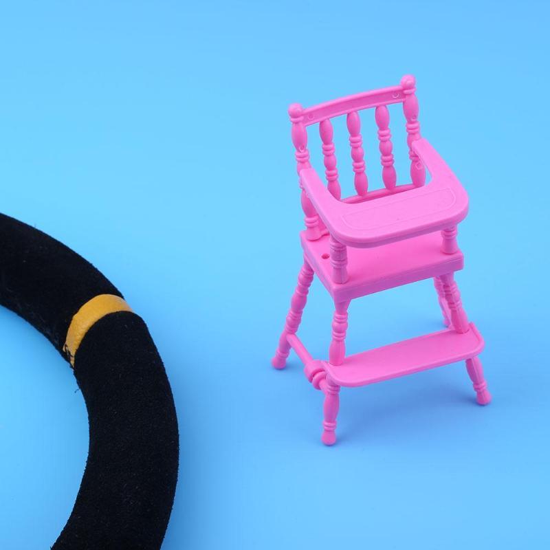 Trona para casa de muñecas para niños, guardería rosa, muebles para casa...