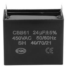 Ac synchrone motor CBB61 Startcondensator Generator 450 V AC 24 uF 50/60Hz voor 400/350 /300/250VAC UL/RU vermeld Elektrische Motor.
