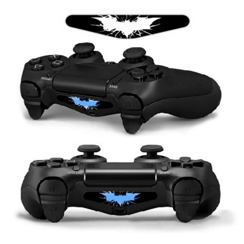 Piel para Sony Dualshock 4 PS4 Controlador LED luz Etiqueta de barra pegatina cubierta para PS4 controlador Radar Bat pegatinas