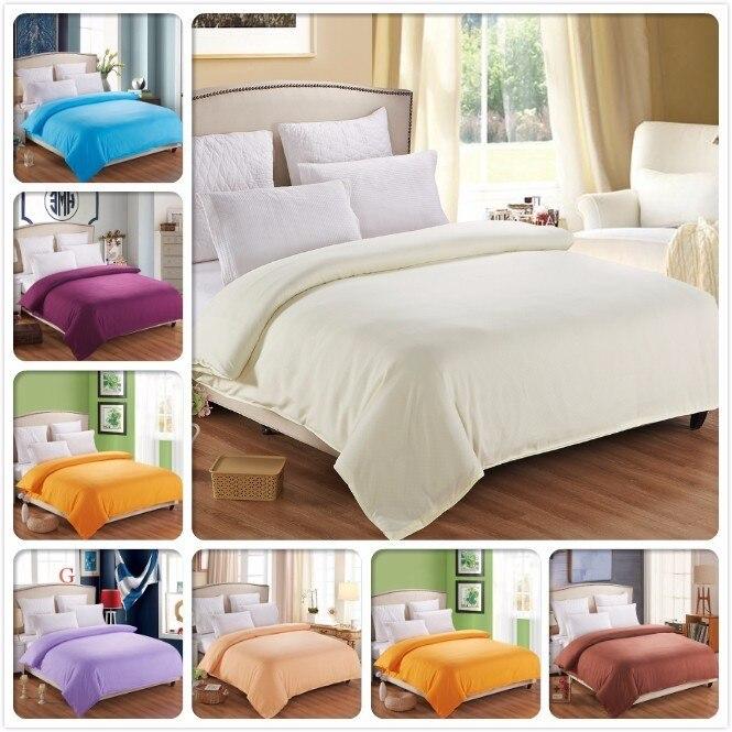 Funda de edredón Beige de 1 pieza, bolsa de cama lisa de Color puro, edredón de algodón suave de alta calidad, funda de edredón de un solo tamaño doble reina rey