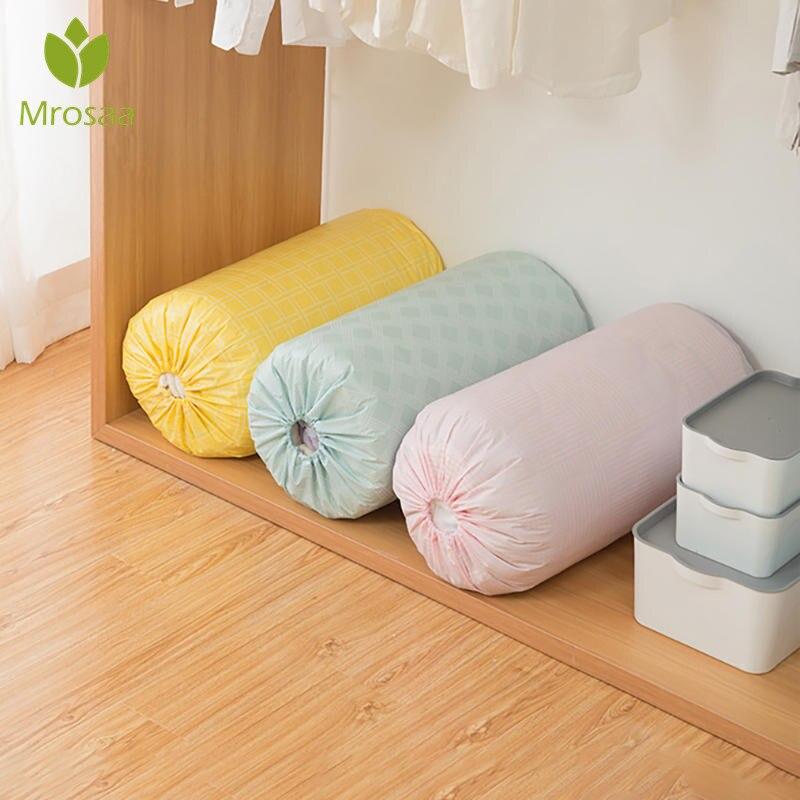 Organización del hogar PEVA, colcha con cordón, bolsa de almacenamiento, colcha a prueba de humedad para el hogar, bolsa de almacenamiento plegable